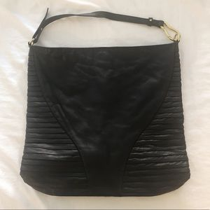 Kelsi Dagger black leather tote